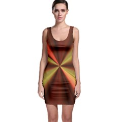 Copper Beams Abstract Background Pattern Sleeveless Bodycon Dress