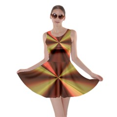 Copper Beams Abstract Background Pattern Skater Dress
