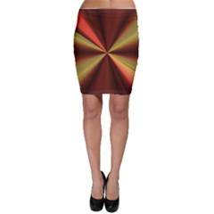 Copper Beams Abstract Background Pattern Bodycon Skirt