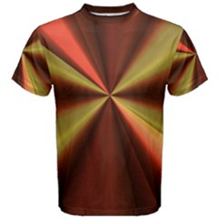 Copper Beams Abstract Background Pattern Men s Cotton Tee