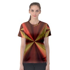 Copper Beams Abstract Background Pattern Women s Sport Mesh Tee