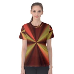 Copper Beams Abstract Background Pattern Women s Cotton Tee