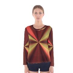 Copper Beams Abstract Background Pattern Women s Long Sleeve Tee