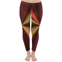 Copper Beams Abstract Background Pattern Classic Winter Leggings