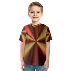 Copper Beams Abstract Background Pattern Kids  Sport Mesh Tee