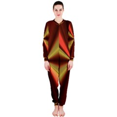 Copper Beams Abstract Background Pattern Onepiece Jumpsuit (ladies)