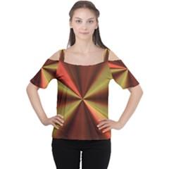 Copper Beams Abstract Background Pattern Women s Cutout Shoulder Tee