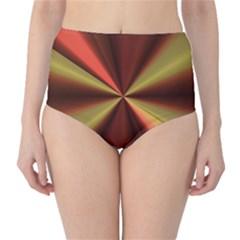 Copper Beams Abstract Background Pattern High Waist Bikini Bottoms