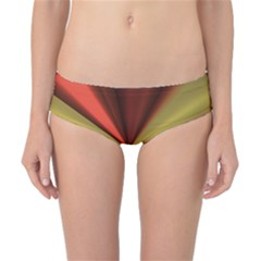 Copper Beams Abstract Background Pattern Classic Bikini Bottoms