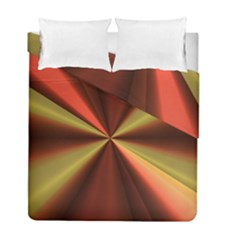 Copper Beams Abstract Background Pattern Duvet Cover Double Side (full/ Double Size)