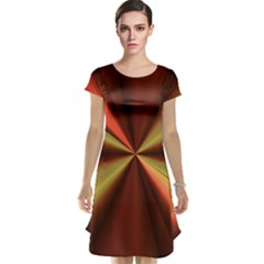 Copper Beams Abstract Background Pattern Cap Sleeve Nightdress