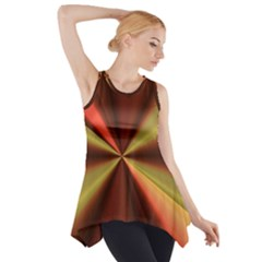 Copper Beams Abstract Background Pattern Side Drop Tank Tunic