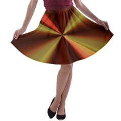 Copper Beams Abstract Background Pattern A Line Skater Skirt