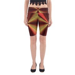 Copper Beams Abstract Background Pattern Yoga Cropped Leggings