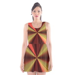Copper Beams Abstract Background Pattern Scoop Neck Skater Dress