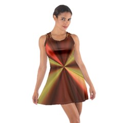 Copper Beams Abstract Background Pattern Cotton Racerback Dress