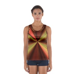 Copper Beams Abstract Background Pattern Women s Sport Tank Top
