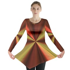 Copper Beams Abstract Background Pattern Long Sleeve Tunic