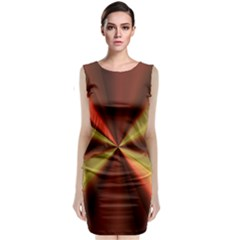 Copper Beams Abstract Background Pattern Classic Sleeveless Midi Dress
