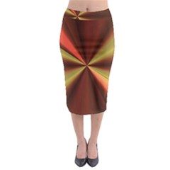 Copper Beams Abstract Background Pattern Midi Pencil Skirt