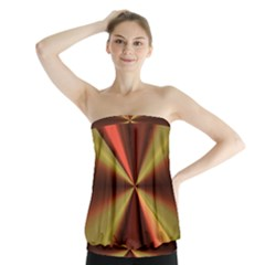 Copper Beams Abstract Background Pattern Strapless Top