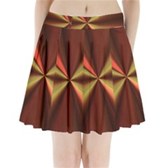Copper Beams Abstract Background Pattern Pleated Mini Skirt