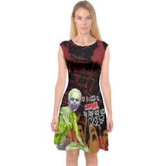 Zombie Capsleeve Midi Dress