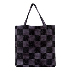 Square1 Black Marble & Black Watercolor Grocery Tote Bag