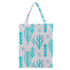 Forest Drop Blue Pink Polka Circle Classic Tote Bag