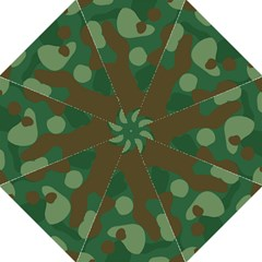 Initial Camouflage Como Green Brown Straight Umbrellas