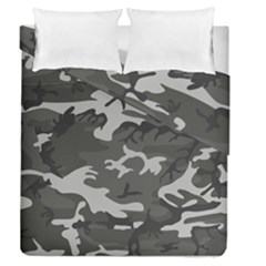 Initial Camouflage Grey Duvet Cover Double Side (queen Size)