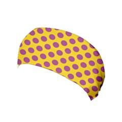 Polka Dot Purple Yellow Yoga Headband