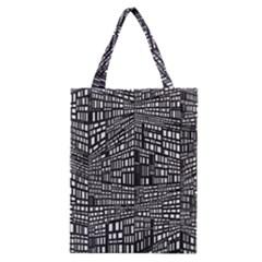 Plaid Black White Classic Tote Bag