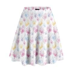 Pretty Colorful Butterflies High Waist Skirt