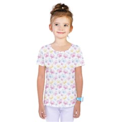 Pretty Colorful Butterflies Kids  One Piece Tee