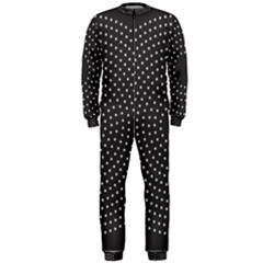 Round Stitch Scrapbook Circle Stitching Template Polka Dot Onepiece Jumpsuit (men)