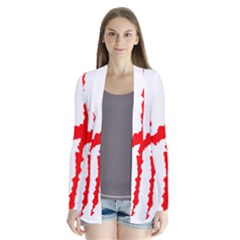 Scratches Claw Red White H Cardigans