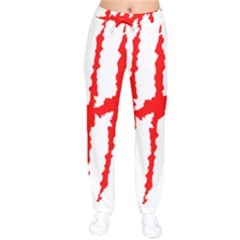 Scratches Claw Red White H Drawstring Pants