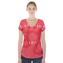 Zodiac Leo Short Sleeve Front Detail Top