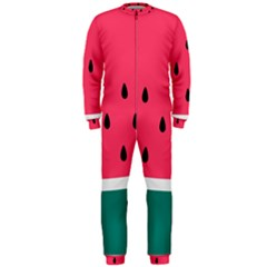 Watermelon Red Green White Black Fruit Onepiece Jumpsuit (men)