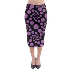 Pattern Midi Pencil Skirt