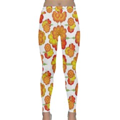 Colorful Stylized Floral Pattern Classic Yoga Leggings