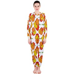 Colorful Stylized Floral Pattern OnePiece Jumpsuit (Ladies)