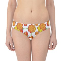 Colorful Stylized Floral Pattern Hipster Bikini Bottoms