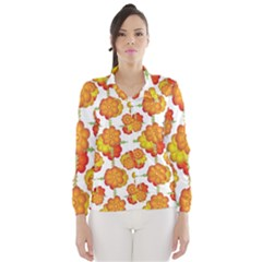 Colorful Stylized Floral Pattern Wind Breaker (Women)
