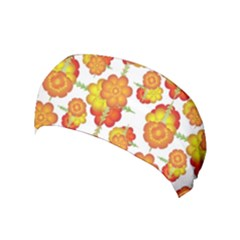 Colorful Stylized Floral Pattern Yoga Headband