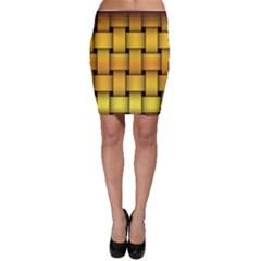 Rough Gold Weaving Pattern Bodycon Skirt