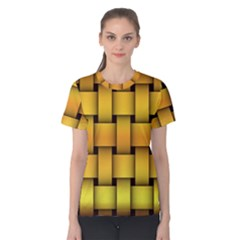 Rough Gold Weaving Pattern Women s Cotton Tee