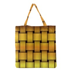 Rough Gold Weaving Pattern Grocery Tote Bag