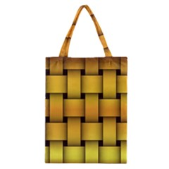 Rough Gold Weaving Pattern Classic Tote Bag